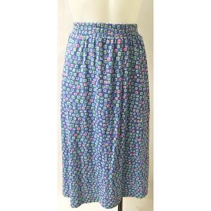 Blue & Pink Vintage Skirt Size 12